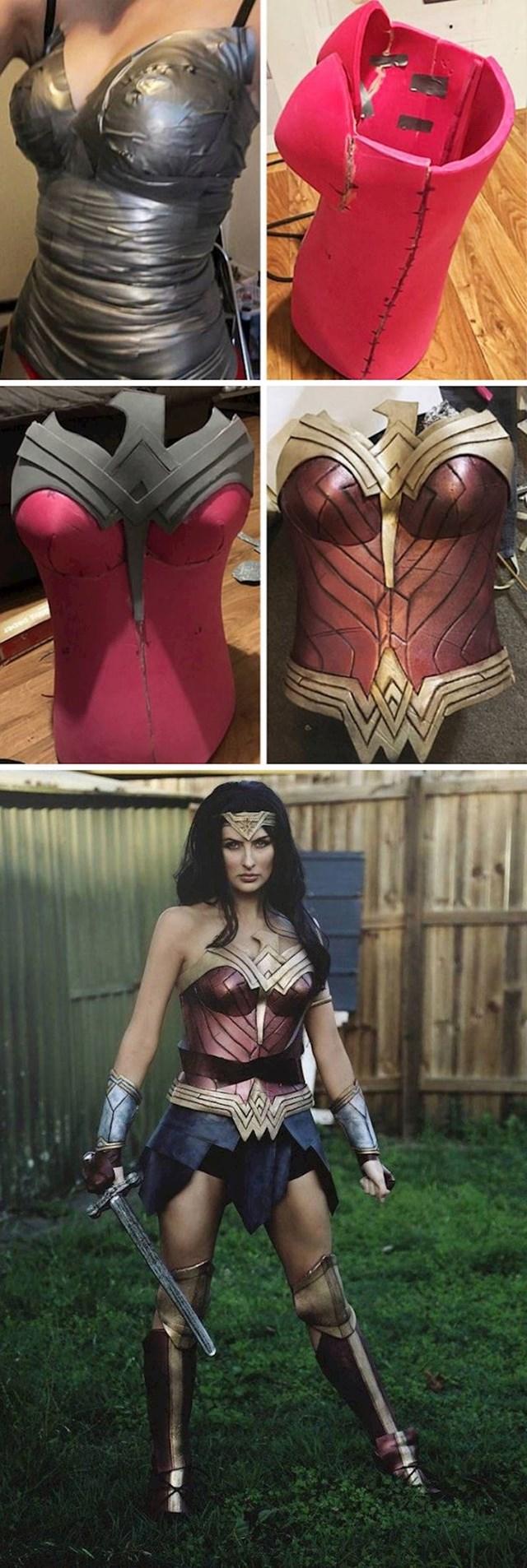 Pogledajte kako je ova mlada žena sama napravila kostim.