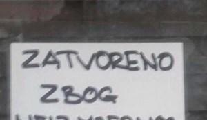 Gosti nisu mogli vjerovati svojim očima kad su vidjeli što je pisalo na ulazu u kafić