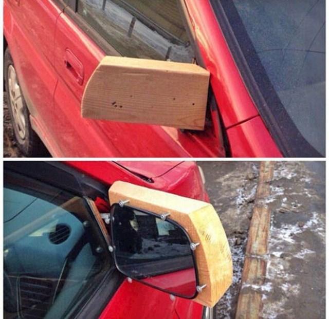 Otpao mu je stari retrovizor pa je sam napravio novi.