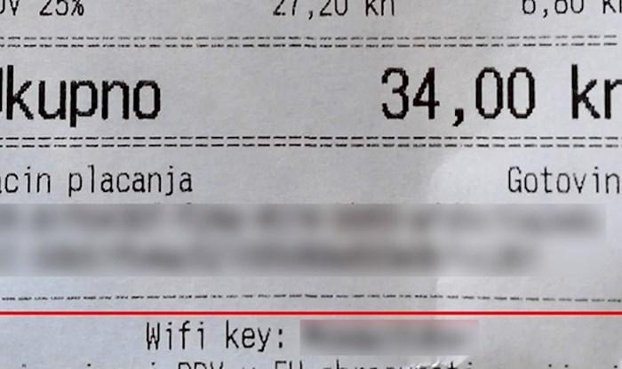 Kafić iz Kostrene ima važnu poruku za goste, evo što piše na svakom računu