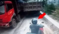 Ovaj motorist bio je na krivom mjestu u krivo vrijeme, pogledajte što mu se dogodilo