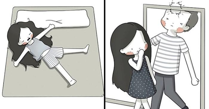 Niska djevojka je duhovitim ilustracijama otkrila prednosti niskih ljudi
