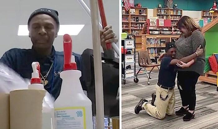 VIDEO Domar je pao na koljena kad je vidio što su radnici iz škole učinili za njega