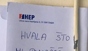 Netko je Slavoncu otvarao poštu pa je susjedu napisao poruku na kuverti