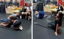 VIDEO Djevojka se rastezala s trenerom, a onda joj se dogodila najgora moguća stvar