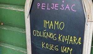 Restoran s Pelješca nasmijao je goste pomalo zbunjujućim natpisom o kuharu