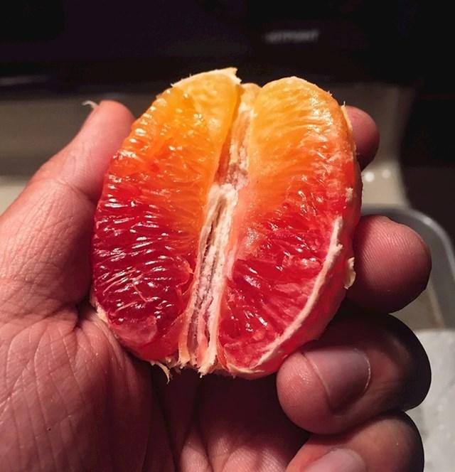 Priznajte da nikad niste vidjeli naranču s ovakvim prijelazom nijansi.