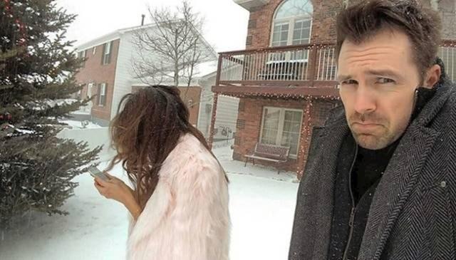 """""""Žena me natjerala da je slikam na snijegu."""""""
