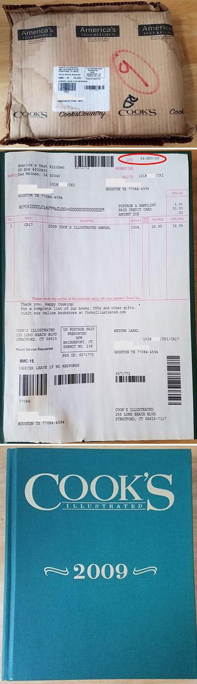 """""""Moja žena je danas dobila paket koji je naručila prije 10 godina."""""""