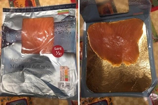 Bilo je to razočaravajuće pakiranje lososa.