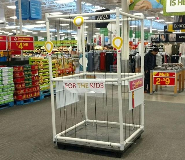 Supermarket nudi kavez za djecu?!