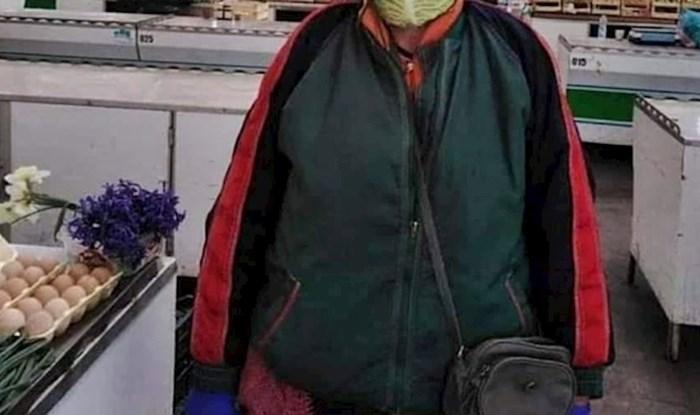 Žena je pokazala kako se na tržnici štiti od koronavirusa, fotka je postala hit