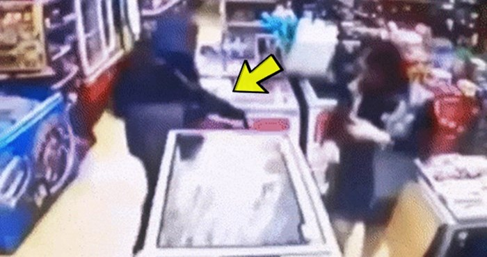 Nesvakidašnja snimka nadzorne kamere otkriva zbog čega je pljačkaš odjednom odustao