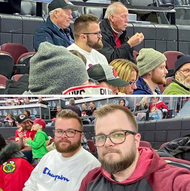 Ovaj lik je sasvim slučajno na utakmici hokeja na ledu upoznao svog dvojnika.