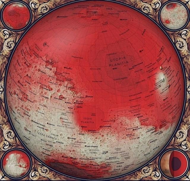 Topografska karta Marsa