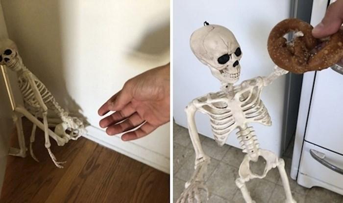 """Lik je """"posvojio"""" uplašenog kostura, na urnebesan način je prikazao kako je postao član obitelj"""