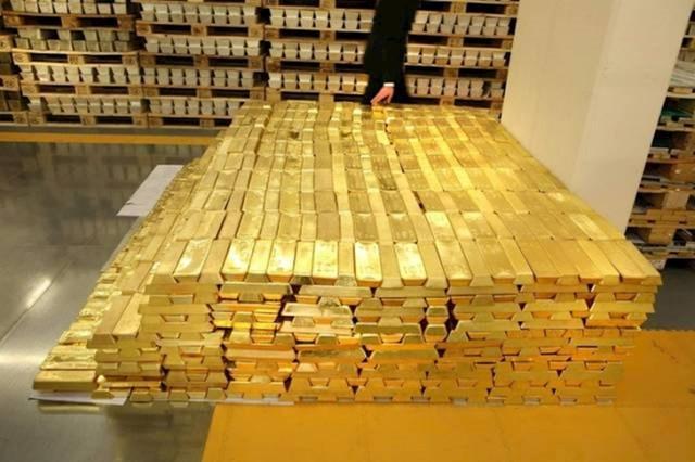 Ove zlatne poluge na slici vrijede 1.6 milijarda dolara.