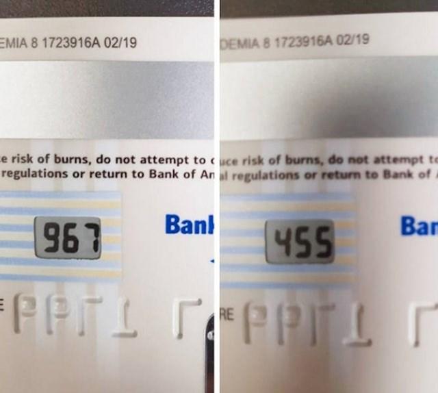 """""""Moja bankovna kartica ima sigurnosni CVV broj koji se mijenja svakih nekoliko sati."""""""