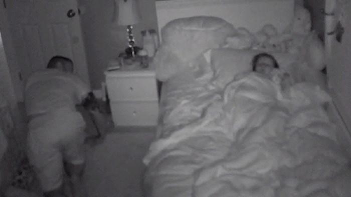 Žena se oduševila kad je vidjela snimku noćne kamere iz dječje sobe i ono što je njen muž radio