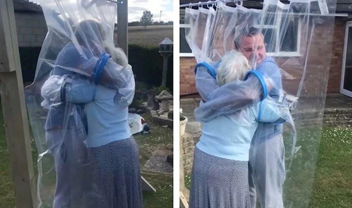VIDEO Unuk je razveselio baku nakon što je napravio zavjesu za grljenje tijekom korone