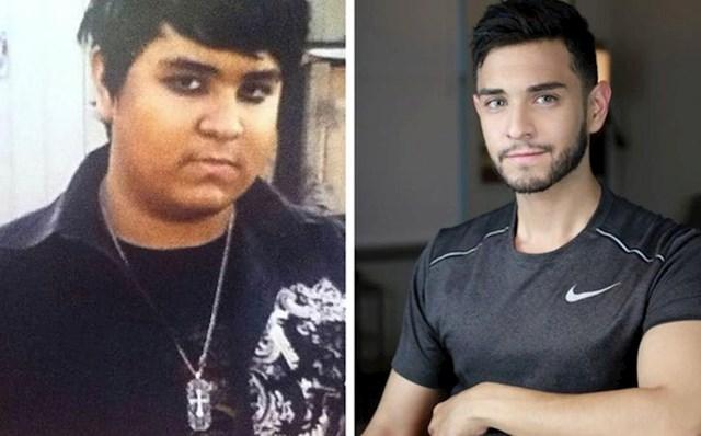 Na lijevoj fotki je imao 17 godina, bio je žrtva verbalnog nasilja u školi. Sad ima 24 godine i izgleda skroz drugačije.