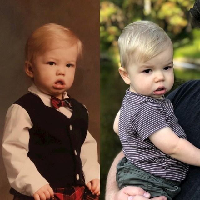 Otac i njegov sin. 32 godine razlike.