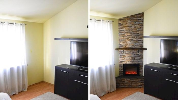 VIDEO U svom malom stanu je napravila lažni kamin koji izgleda kao pravi