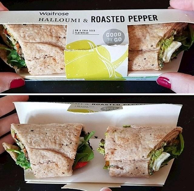 Očekivala je da će dobiti jedan veliki sendvič, na kraju je dobila dva manja.