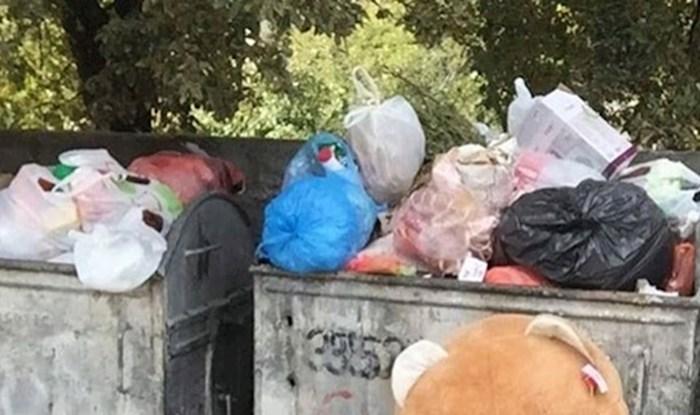 Netko je slikao tužan prizor kraj kontejnera, pogledajte što je netko bacio