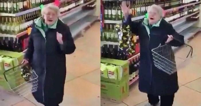 Netko je snimio presmiješnu reakciju bake koja je u dućanu čula omiljenu pjesmu