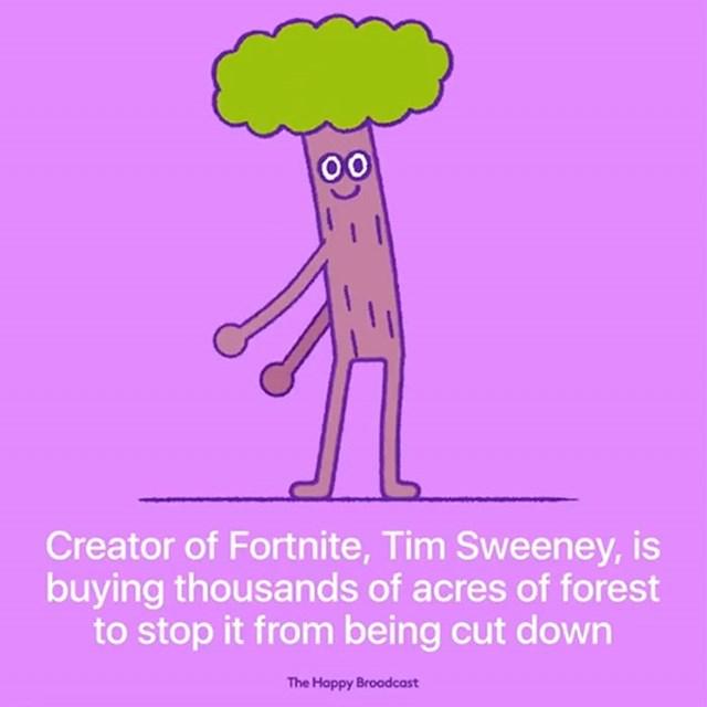 Kreator igrice Fortnite, Tim Sweeney, kupuje tisuće jutara šuma kako bi spriječio njihovu sječu.
