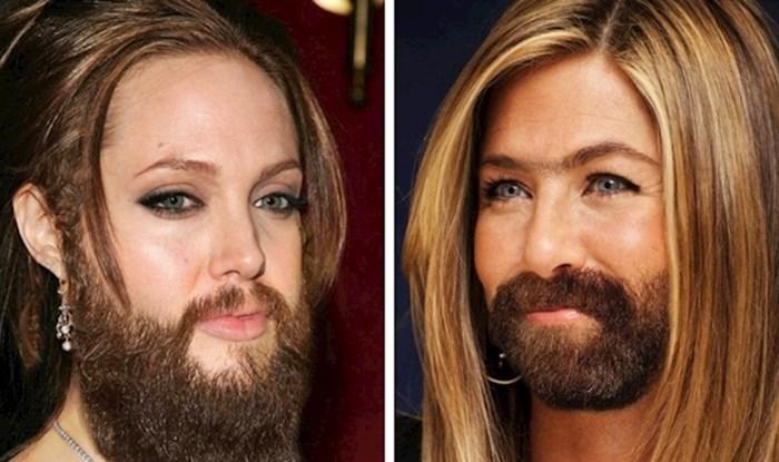 Kako bi 20 poznatih žena izgledalo da su dlakave kao muškarci