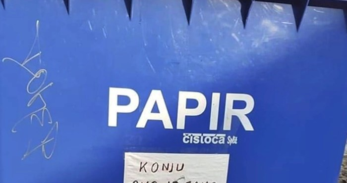 Netko je uporno bacao smeće u kontejner za papir pa su zalijepili poruku samo za njega