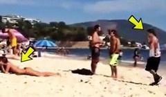 Na plaži je ugledao zgodnu djevojku pa izveo jedan od najžešćih uleta koje ćete ikad vidjeti