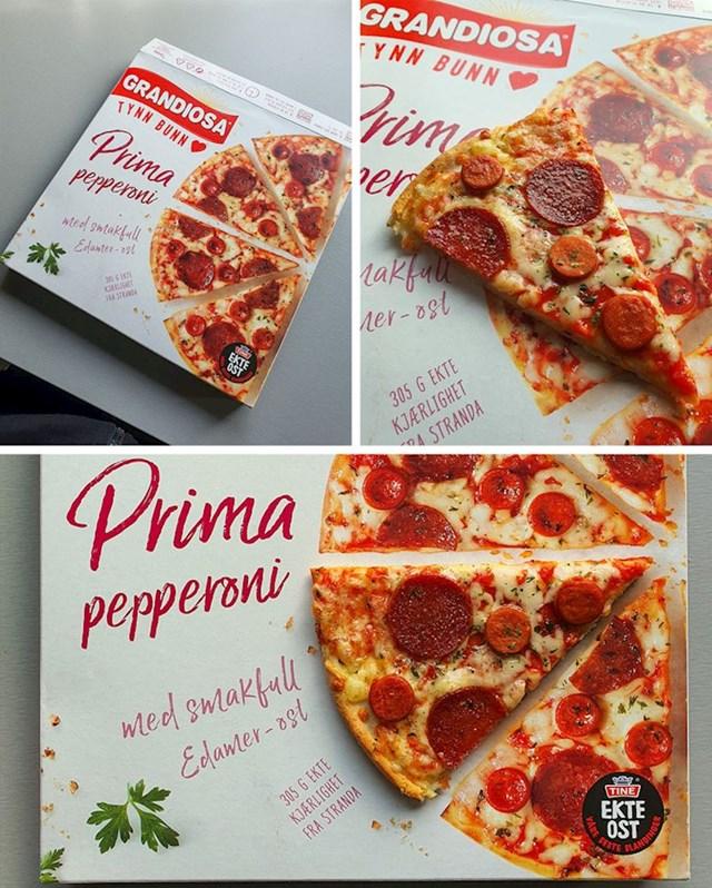 """""""Ova smrznuta pizza je stvarno izgledala kao na slici. Svaka čast!"""""""