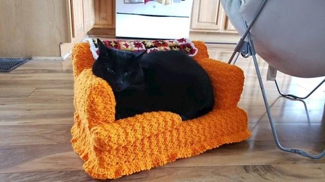 """""""Cijeli dan sam ležala na kauču pa sam pomislila da bi bilo ok da i moje mačke to mogu raditi."""""""
