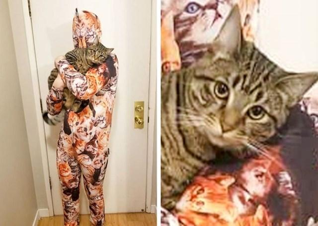 """""""Danas mi je stigao paket koji nisam naručio. Isprobao sam kostim koji je bio unutra, moja mačka nije bila oduševljena."""""""