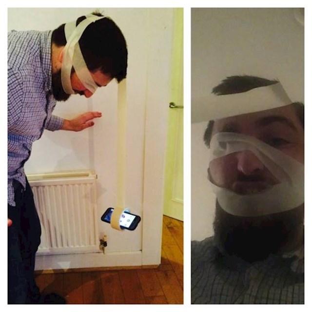 Kako slikati selfie pomoću ljepljive trake