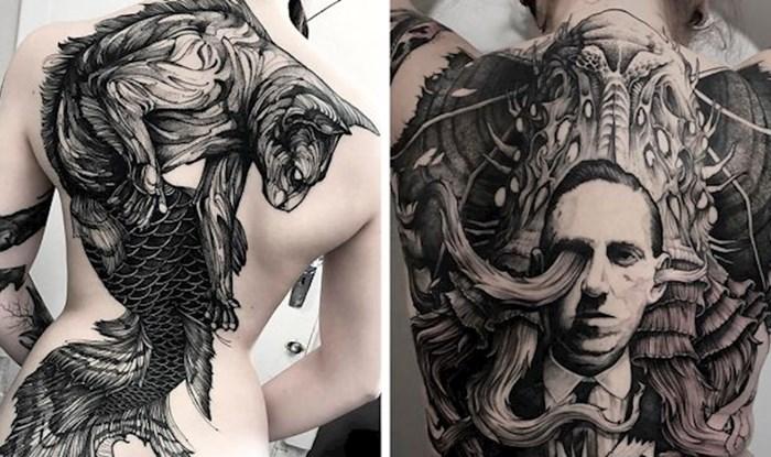 Tetovaža preko cijelih leđa većini ljudi zvuči kao pretjerivanje, no ovi primjeri su se mnogima svidjeli