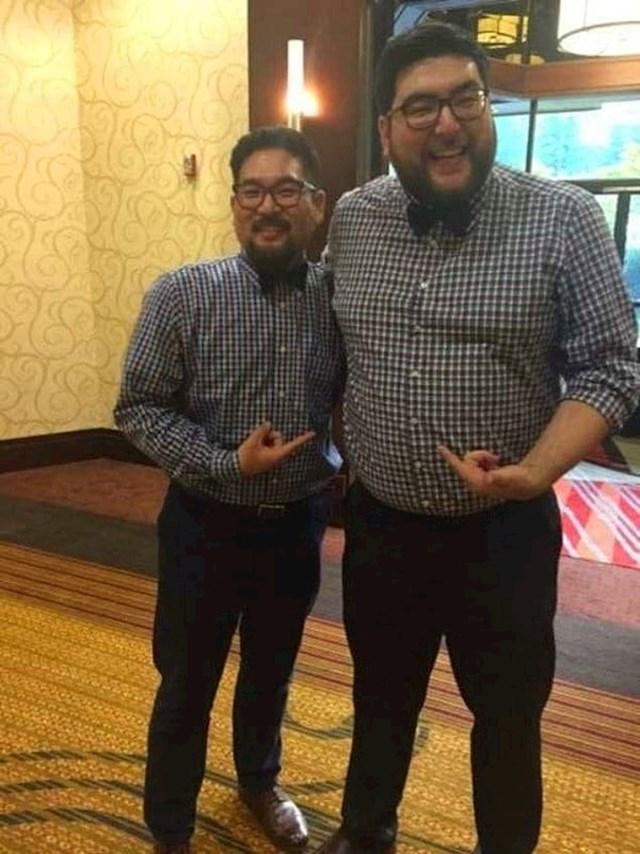 Nisu braća. Ovi likovi su se slučajno vidjeli na vjenčanju i slučajno su nosili istu odjeću.