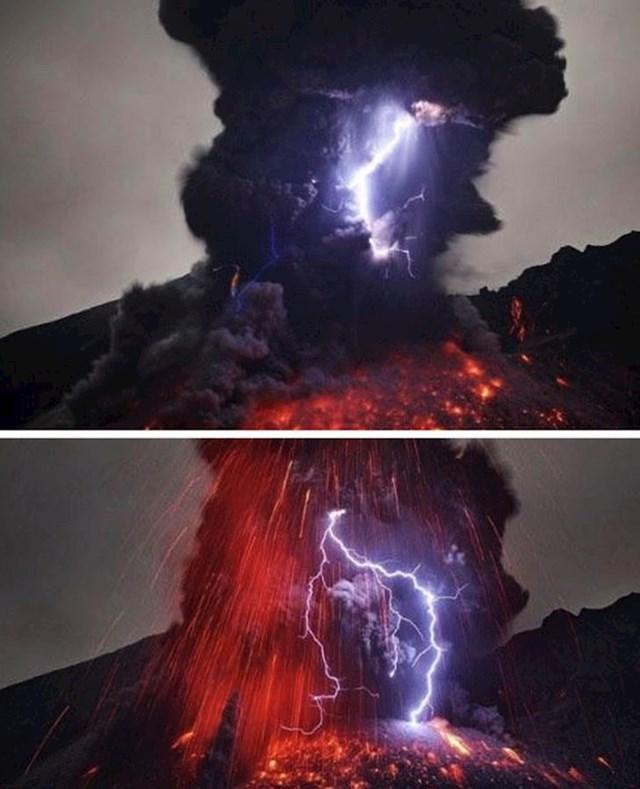 "Rijetki fenomen vulkanskih munja zove se ""prljava oluja"" i izgleda stvarno fascinantno."