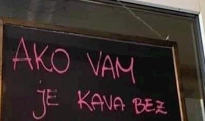 Vlasnici ovog kafića su napisali koji gosti bi odmah trebali napustiti njihov objekt