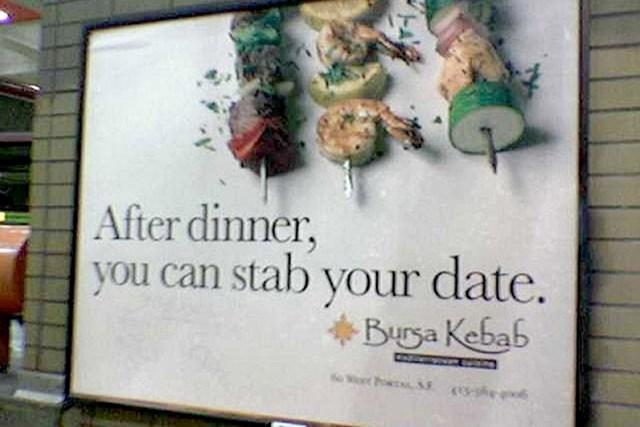#3 Nakon večere možete izbosti osobu s kojom ste bili na spoju? Hmm...