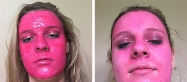 Ovu masku za lice nije mogla tako lako isprati...