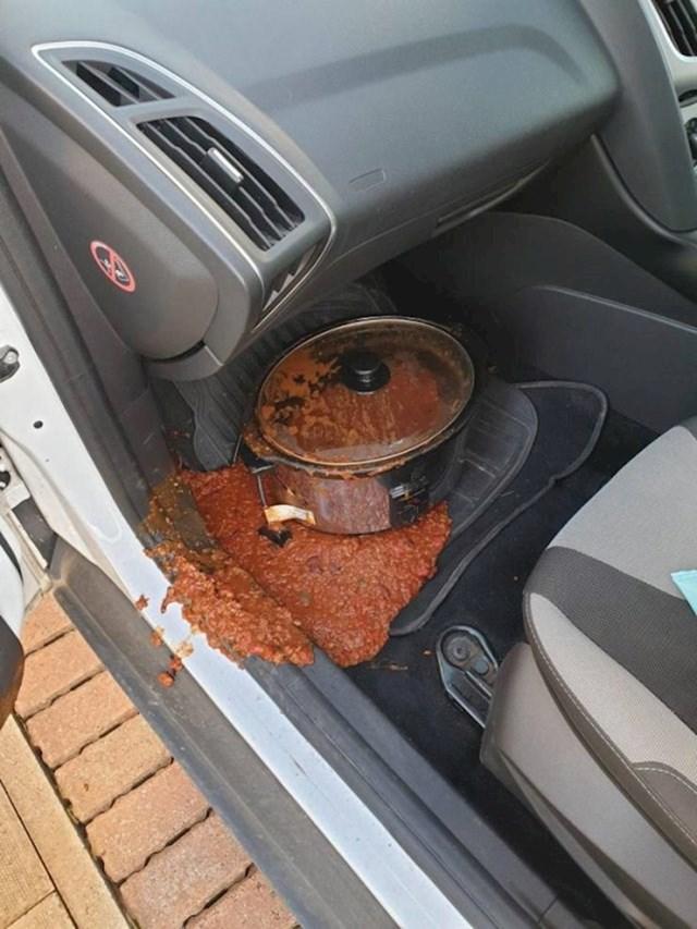 Ne, ovako se ne prevozi hrana.