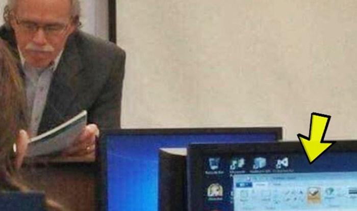 Na predavanju je bilo dosadno, student je slikao što je kolega zapravo radio na računalu