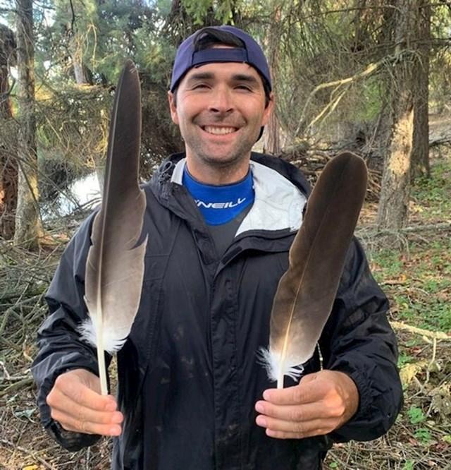 Ako im je ovo veličina perja, možete si zamisliti kolike su onda ove ptice...