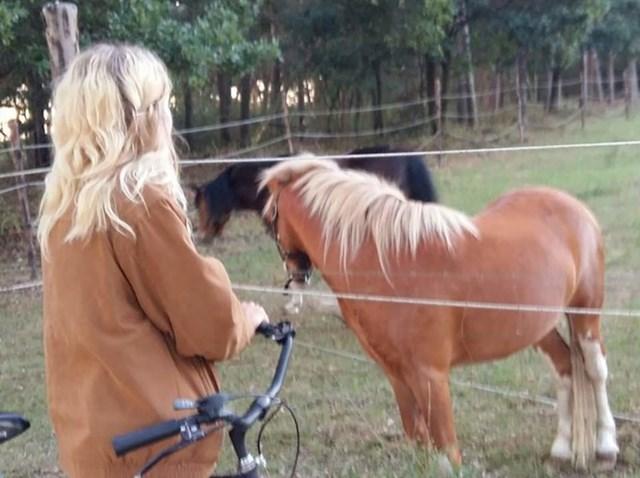 """""""Moja djevojka je na ovoj slici slična konju ispred kojeg stoji."""""""