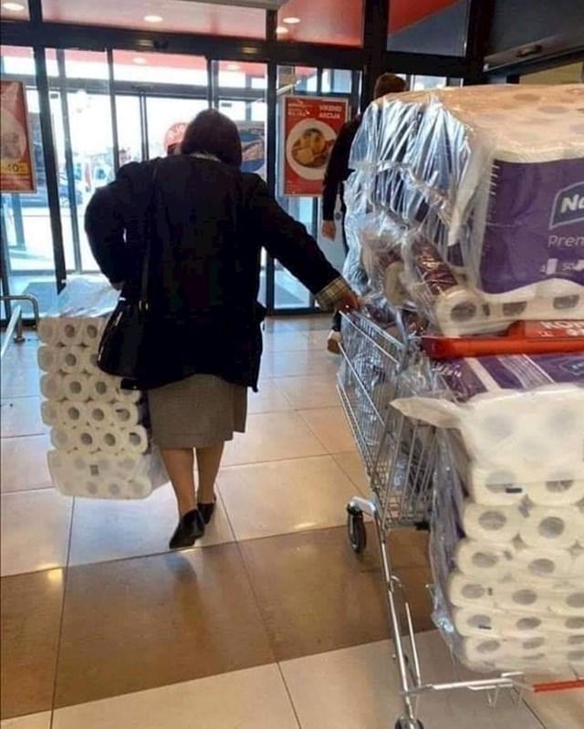 Nema mjesta za paniku, ali zato ima mjesta za WC papir.