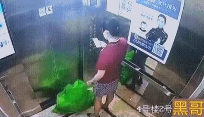 Poslali su je da baci smeće, no kamera u liftu je snimila što je zapravo ila